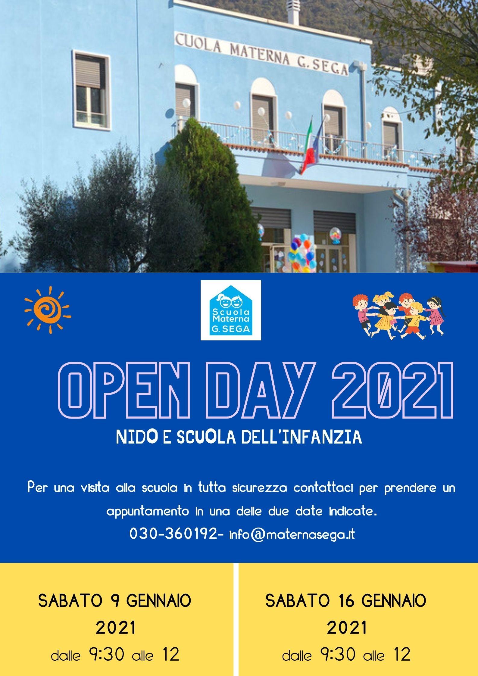 Locandina OPEN DAY 2021