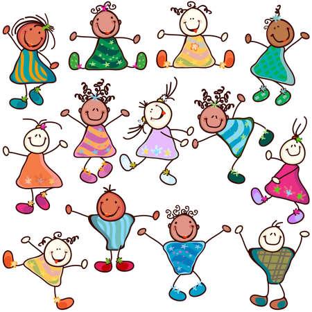 12428586-gruppo-di-bambini-divertenti-in-azione